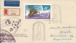 Letter FI000108 - Hungary Pecs Soviet Union (USSR SSSR Russia) Space Program 1967 - Hungary