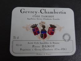 Etiquette De Bourgogne Gevrey Chambertin Clos Tamisot Damoy - Bourgogne