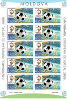 Moldova 2008 . Football EURO 2008. Sheetlet Of 10 . Michel # 615 KB - Moldavia