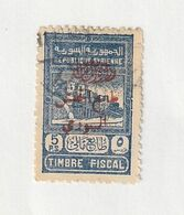 ZSyr45o - RARE - SYRIE 1945 - N° RA 5 (Scott) - Used - Valeur : 32 $ - Timbre Fiscal Surchargé En Rouge - Syrie