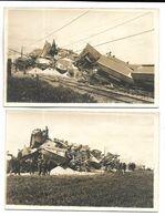 MAROC - Déraillement D'un Train En 1928 - Lot De 5 CARTES PHOTOS - Maroc