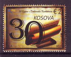 Kosovo 2020  30. Y.  DECLARATION MNH - Kosovo