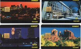 LOT 4 TELECARTES USWEST - Puce SOLAIC SO3 - 5-10-20 UNT - United States