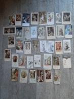 Lot 38 Images Religieuses Anciennes Communion Chromo Image Religieuse Religion - Oude Documenten