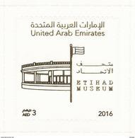 United Arab Emirates / UAE 2016 - Etihad Museum / Flag/ Transparent / Odd Shape/ Self Adhesive MNH - United Arab Emirates (General)