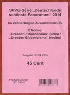 Verkaufsverpackung Inhaltsblatt, SPWz Dresden Elbpanorama, 2014 (96448) - Lettres & Documents