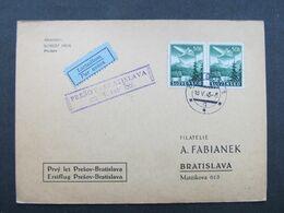 KARTE Flugpost Erstflug Presov - Bratislava 1943///  D*45301 - Slovacchia