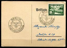 """German Empires 1941 Bedarfskarte/Card Mit Mi.Nr.773 Mit Propaganda SST""""Berlin-Großdeutscher Reichstag,Adler Mit """"1 Beleg - Briefe U. Dokumente"""