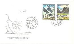 Norge Norway 1983 Norden: Tourism In Scandinavia, Mountains Mi 881-882, FDC - Norwegen