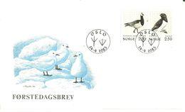 Norge Norway 1983 Birds, Mi 873-884, FDC - Norwegen