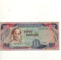 JAMAICA  50 Dollars  P73a   Dated 1.8.1988 - Giamaica