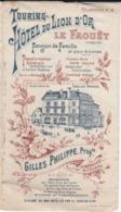 VP-GF.20-219 : TOURING HOTEL DU LION D'OR. PENSION DE FAMILLE  GILLES PHILIPPE. LE FAOUET. MORBIHAN. - Visitenkarten