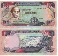 JAMAICA  50 Dollars  P79c   Dated 15.1.2002 - Giamaica