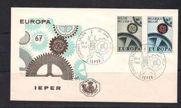 Belgie Belgique 1967 OCBn° 1415-1416 FDC Cept Europa  Cote 4,00 € - 1961-70