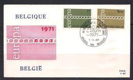 Belgie Belgique 1971 OCBn° 1578-1579 FDC Cept Europa  Cote 3,00 € - 1971-80