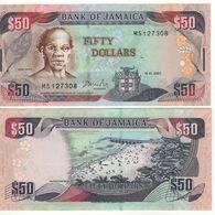 JAMAICA  50 Dollars  P83b   Dated 15.1.2007 - Giamaica