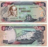 JAMAICA  50 Dollars  P83f   Dated 15.1.2008 - Giamaica