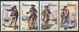 Bahamas 1987. Michel #644/47 MNH/Luxe. Great Pirates And Their Ships (Ts10) - Bahamas (1973-...)