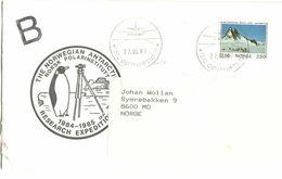 Norway 1987 Queen Mauds Land,  Cancelled The Norwegian Antarctic Research, Plane, 25.5.87  Mi 918, Cover - Norwegen
