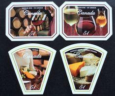 Canada  Mnh - Uva Raisin Grape Traube Wine Cork Vendange Vin Vino Glass Cheese Queso Käse Fromage - Yvert 2235/8 - Ongebruikt