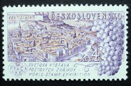 1962 Czechoslovakia Mnh - Uva Raisin Grape Traube Wine Cork Vendange Vin Vino - Old Bratislova City Castle Painting - Czechoslovakia
