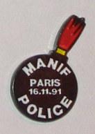 Pin's MANIF POLICE 16-11-91 - Police