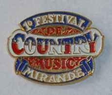 Pin's FESTIVAL MUSIQUE COUNTRY, MIRANDE - Musik