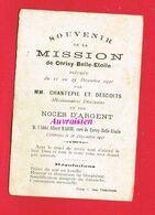Image Pieuse ...Généalogie ... Souvenir De MISSION De CERISY BELLE ETOILE Abbé A. MARIE Curé 1921 - Other