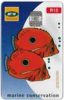 S. Africa - MTN - Transparent Cards - Marine Conservation, 2002, 15R, 100.000ex, Used - Afrique Du Sud