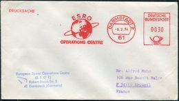 1974 Germany Darmstadt ESRO Operations Centre, Space Rocket Cover. SKYLAB 4 - Europe