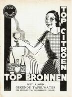 1933 - Publicité De Presse - TOP BRONNEN - TOP CITROEN - Nederbrakel - Voir Scan - Reclame