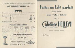 Pub /   Le Café Parfait Avec Cafetière Hellem  ( Années 30)   ///  Ref.  Aout 20 - Reclame