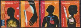 AUSTRALIA, 2020, MNH, MEDICAL INNOVATIONS, PENICILLIN, CARCIAC PACING, HPV VACCINE, SPRAY-ON SKIN CELLS, 4v - Health