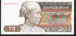 MYANMAR P65 75 KYATS 1985     VF NO P.h. - Myanmar