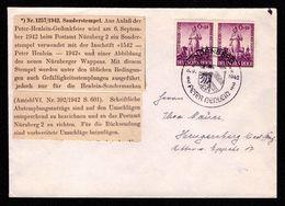 DR Brief NÜRNBERG - Hengersberg - 6.9.1942 Mit Mi. 918 Und Sonderstempel Peter Henlein - Deutschland