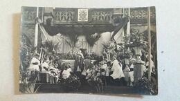 CPA PHOTO FETES DU SAINT SACREMENT 26 MAI 1921 ANIMATION NON LOCALISE - Otros