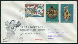 1974 Greece Thermopylae Space Rocket Cover. SKYLAB 4 - Europe