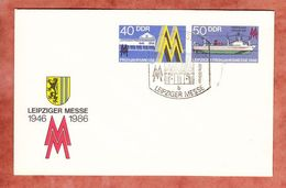 U 4 Leipziger Fruehjahrsmesse 1986, Blanko, Sonderstempel (96468) - Sobres - Usados