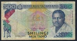 TANZANIA P21c 500 SHILINGI 1992 Signature 8. FINE NO P.h. - Tanzania
