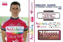 CARTE CYCLISME JOSE ANTONIO CARRASCO TEAM ANDALUCIA 2008 - Radsport