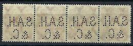ALLEMAGNE 1923:  Superbe Bande De 4 Y&T 299  Obl. CAD Et TP Perforés ''S.A.H.&C.'' - Gebruikt