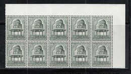 Egypt - 1969 Historical Buildings 55M  Block Of 10 Mnh - Blocs-feuillets