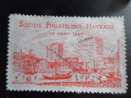Société Philatélique Havraise 1957 LE HAVRE - Erinnophilie