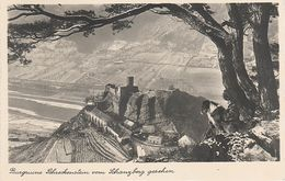 AK Burg Schreckenstein Strekov Vom Schanzberg Mit Hund A Usti Aussig Wannow Vanov Neudörfl Obersedlitz Birnai Kojetitz - Sudeten