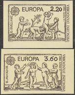 Andorre Français 1989 Y&T 378 Et 379 Non Dentelés. Europa, Jeux D'enfants. Le Cheval Fort Et Le Mouchoir - 1989
