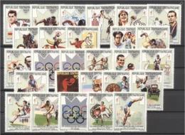 Centrafrica 1993, Olympic Sports, Cycling, Athletic, Car, Gymnastic, Horse Race, Fancy, 27val - Leichtathletik