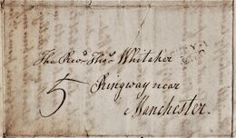 """3 Page 1806 Letter From """"Thomas Wade, Tottington"""" To """"Rev'd Tho's Whitaker, Ringway, Near Manchester"""".   0865 - Manoscritti"""