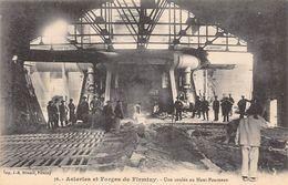 Firminy       42        Les Aciéries Et Forges   Coulée De Haut Fourneau     (voir Scan) - Firminy