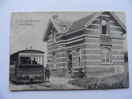 RARE!  Saint-Denis-Bovesse Hôtel Langne Avec  Tram  Stoomtram. Prés De Beuzet, Meux Et Gembloux. Postée 1909. - Other