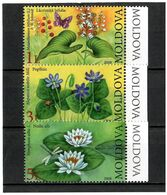 Moldova 2008 . Flowers(Butterflies). 3v: 1, 3, 5 L . Michel # 616-18 - Moldavia
